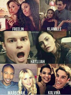 canon couples of the originals behind the scenes! freelin, klamille, haylijah, marbekah, & kolvina