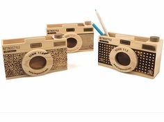 Discover Cool Stuffs And Wonderful Gift Christmas Time, Christmas Gifts, Wooden Camera, Decoupage Box, Pen Holders, Bel Air, Photo Gifts, Shapes, Creative