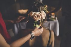 Hair flowers by The Garden Flower Company & photography by Amy Shore.