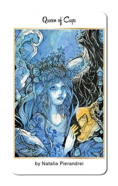 Natalia Pierandrei returns to create the Queen of Cups for our 78 Tarot Nautical deck. https://www.kickstarter.com/projects/kayti/78-tarot-nautical #78TarotNautical #Tarot #Art #Kickstarter #QueenofCups #78Tarot #Cups #Queen