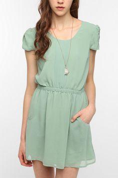 Pins and Needles Chiffon Slit Back Dress  #UrbanOutfitters
