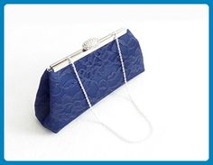 Navy Blue and Silver Bridal Clutch, Something Blue, Bridesmaid Gift, Mother of the Bride Clutch, Bridesmaid Clutch - Bridesmaid gifts (*Amazon Partner-Link)