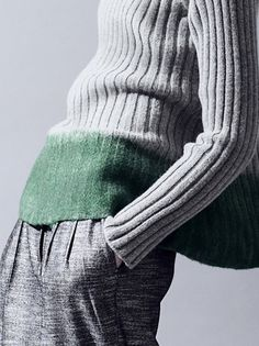 Check out the felted green border : DecoriaLab Details : Gabriele Colangelo Pre-Fall 2013: