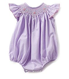 Edgehill Collection Baby Girls 39 Months Smocked Bubble Shortall #Dillards