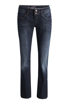 Espirit - Washed stretch jeans, low rise.