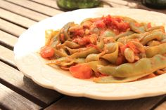 As Minhas Receitas: Feijão Verde Estufado com Tomate