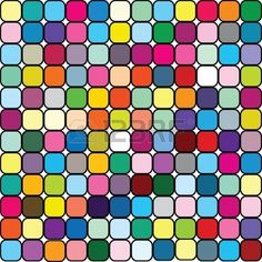 Happy background in colored squares