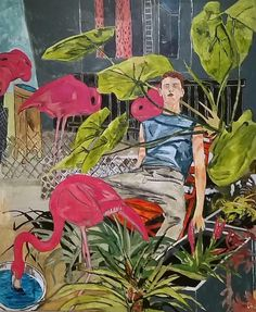 Hernan Bas. The flamingo farmer's son, 2014