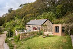 Libertine stone house in Cornwall, UK, was a piggery in the 1860s, now a rental vacation cottage - Small House Swoon
