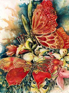 Painting-Watercolor-Sue Primeau: Chance Encounter