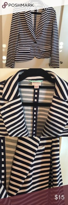 NWOT Striped Merona Cotton Blazer Brand new, never worn before striped cotton blazer. Nice feminine fit and super comfortable. Fits a XS and S. Merona Jackets & Coats Blazers