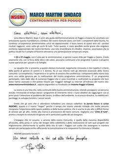 LINK_ http://pdpoggioacaiano.tumblr.com/  IL 26  27 maggio vota e fai votare Marco Martini Sindaco di Poggio a Caiano!  Il programma: http://www.marcomartinisindaco.it/programma/  La squadra:http://www.marcomartinisindaco.it/la-squadra/  www.insiemepartecipo.it   scrivici@marcomartinisindaco.it   cell. 370 321 1804   Twitter.com: https://twitter.com/MartiniSindaco  You Tube: http://www.youtube.com/user/InsiemePoggioaCaiano?feature=mhee  Facebook: http://www.facebook.com/insieme.poggioacaiano