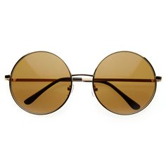 05bacffd4d7 Oversize Vintage Inspired Large Oversize Full Metal Round Circle Sunglasses  8370