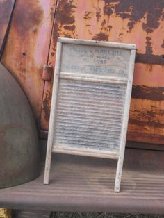 Standard Family Size Heavy Glass Washboard by VintageVangieRose, $22.00