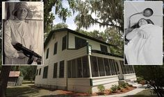 The lakefront Florida retreat where FBI agents gunned down gangland legend Ma Barker in 1935 is up for sale - bullet holes and all. Wood Frame House, Famous Outlaws, Real Gangster, Throughout The World, Women In History, Wild West, Acre, Bullet, Shots