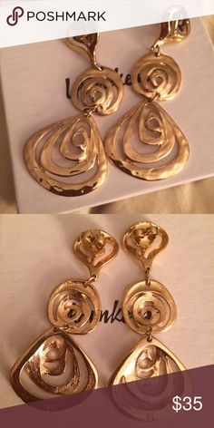 Gold Avon Earrings Beautiful gold plated, Avon earrings. Very nice with large backs. Worn once to an event, then sanitized. 😘💕 Avon Jewelry Earrings