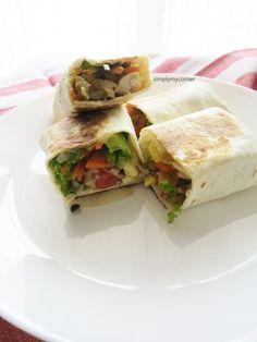 Healthy Chicken Wrap Recipe for full recipe : simplymycorner.wordpress.com