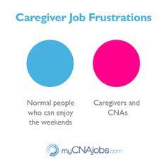 Working as a caregiver, CNA, or nurses aide - #job #adayinthelife.  Thanks for all you do from www.myCNAjobs.com