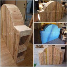 Wood pallets on pinterest pallet sofa pallets and pallet couch - Tete de lit palette bois ...