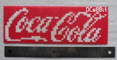 Coca Cola logo perler beads by DCs8Bit