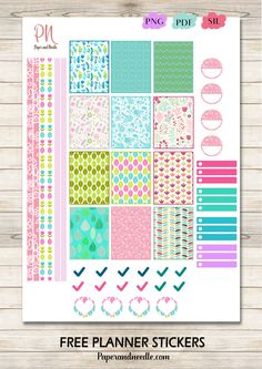 Free planner stickers - Free Printable Stickers - scrapbooking - craft - project life - organization