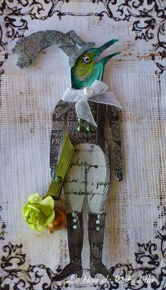 Quirky paper doll with bird head on a rather dapper looking human body Quirky paper doll with bird head on Paper Dolls, Art Dolls, Paper Puppets, Paper People, Arts And Crafts, Paper Crafts, Paper Birds, Paper Artist, Paper Tags