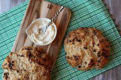Brown butter soda bread with honey-cinnamon butter from RecipeGirl