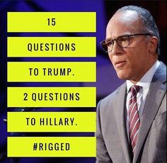 Unbelievable! Anyone else notice how scripted Hillary's first answer was? Like she already knew the question...hmmmm.