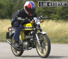 Yamaha Fizzie Fifty In the there was but a few thoughts that occupied a young lads mind, of course girls was the major distraction, as was the dream of being a pop star, but getting on the road as. Mini Motorbike, 50cc, Cars And Motorcycles, Motorbikes, Yamaha, 1975, Racing, Vehicles, Classic