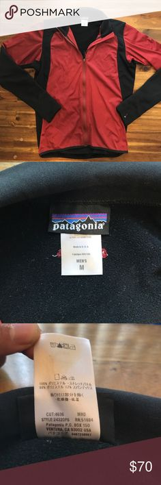 """Patagonia Men Red/Black jacket Used(excellent)condition Patagonia Men Red/Black jacket with lower back side pockets. 18""""underarm to underarm Patagonia Jackets & Coats Performance Jackets"""