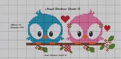 Cross Stitch Owl, Cross Stitch Boards, Cross Stitch Animals, Cross Stitching, Cross Stitch Embroidery, Cross Stitch Patterns, Kids Knitting Patterns, Tapestry Crochet Patterns, Loom Patterns