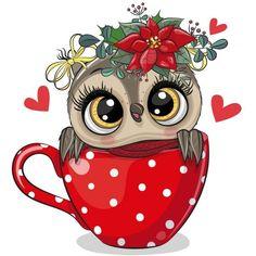 Owl Png, Cute Owl Cartoon, Christmas Owls, Owl Crafts, Dibujos Cute, Christmas Illustration, Typography Prints, Free Illustrations, Nursery Prints