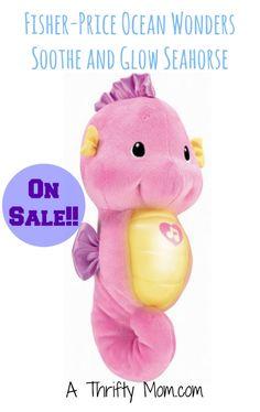 Fisher-Price Ocean Wonders Soothe and Glow Seahorse On Sale #GiftForBaby #Sale