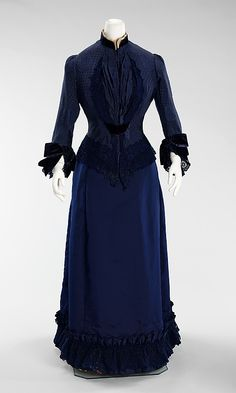 Dress  Emile Pingat  (French, active 1860–96)    Date:      ca. 1885  Culture:      French  Medium:      silk, cotton  Dimensions:      Length at CB (a): 38 in. (96.5 cm) Length at CB (b): 41 in. (104.1 cm)  Credit Line:      Brooklyn Museum Costume Collection at The Metropolitan Museum of Art, Gift of the Brooklyn Museum, 2009; Gift of Lillian E. Glenn Peirce and Mabel Glenn Cooper, 1929  Accession Number:      2009.300.628a, b    This artwork is not on display