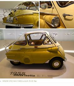 """1955 BMW lsetta 300 - always thought these looked stupid but kinda """"geeky-cool"""" now!"""