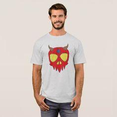 Devilish Skull Design T-Shirt - Halloween happyhalloween festival party holiday