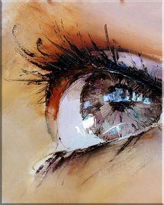 Twinkling Eyes - Painting,  40x50 cm ©2011 by Pavel Guzenko -                            Contemporary painting, pavel guzenko, ukrainian art, Twinkling Eyes