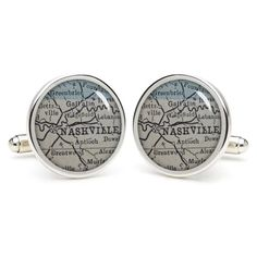 NASHVILLE  cufflinks  wedding gift ideas for by etnecklace on Etsy, $16.99