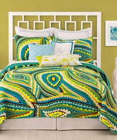 Vivacious Trina Turk Bedding - Love the colors and design!