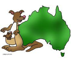 Free Australia Clip Art by Phillip Martin, Australian Map