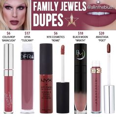 Jeffree star liquid lipstick dupes in the shade Family Jewels // Kayy Dubb ♡