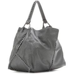 Bottega Veneta Hobo Bag - Gray ❤ liked on Polyvore featuring bags, handbags, shoulder bags, gray purse, hobo shoulder bags, hobo purses, bottega veneta purse and grey handbags