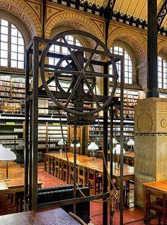 Sainte-Geneviève Library, designed by Henri Labrouste, 10 Place du Panthéon, Paris V