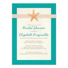 Country Beach Destination Bridal Shower Invitation