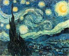 Inspiration:  Dutch post-impressionist artist Vincent Van Gogh's (1853-1890) painting 'The Starry Night' (1889).   I did this lesson w...