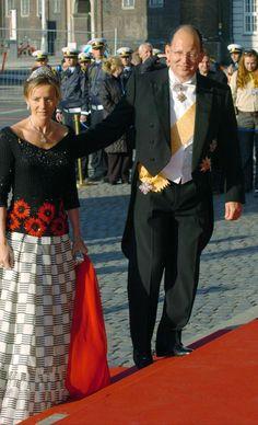Principes Miriam y Kardam de Bulgaria, llegando al concierto por la boda del Principe Heredero Federico de Dinamarca y Mary Donaldson