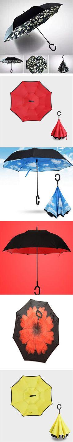 Adult Umbrella Rain Women Flower Coat Double Layer Regenschirm Vrouw Paraplu Women Parasol Reverse Umbrella Windproof QQD052