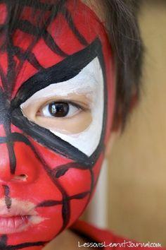 Pintar la cara spiderman en DEF deco | Decorar en familia