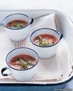 Cold Tomato-Buttermilk Soup Recipe. That looks delicious!