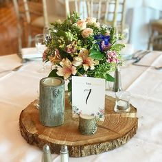 Styled table centre decor at @dunmorehousehotel #weddingflowers #tableflowers #tablecentre #weddingdecor #receptiondecor #weddingtable #irishwedding #irishflorist #bloomsdsyflowers